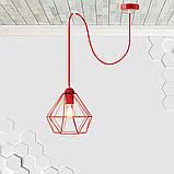 Подвесной светильник на 1-лампу CLASSIC/SP-R E27 красный, фото 2