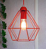 Подвесной светильник на 1-лампу CLASSIC/SP-R E27 красный, фото 3