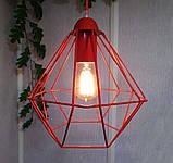 Подвесной светильник на 1-лампу CLASSIC/SP-R E27 красный, фото 4