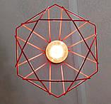 Подвесной светильник на 1-лампу CLASSIC/SP-R E27 красный, фото 9