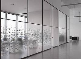 Матовая пленка для окна стекло ПВХ Пиксели Геометрия матирующая наклейка на шкаф-купе для зеркала