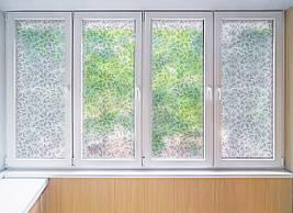 Матова плівка для вікна скло ПВХ Квітковий Візерунок матуюча наклейка на шафу-купе для дзеркала