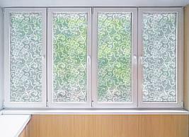 Матова плівка для вікна скло ПВХ Мереживо Візерунки матуюча наклейка на шафу-купе для дзеркала