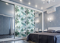 Защитная пленка на окно стекло Пальмовые листья под пескоструй ПВХ наклейка на окно солнца для шкафов