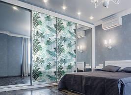 Захисна плівка на вікно скло Пальмове листя під пескоструй ПВХ наклейка на вікно сонця для шаф