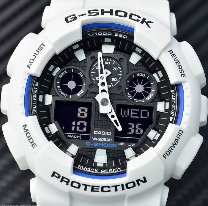 Часы Casio G-Shock GA-100 white ( Белые)