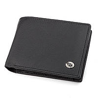 Мужской кошелек ST Leather 18327 (ST108) из натуральной кожи Черный