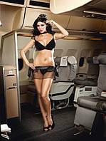 Игровой костюм «Секс-пике» 5-piece Black stewardess uniform, S-L
