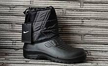 Мужские сапоги спортивные Espas Nike (ЭВА). Зимние дутики мужские сапоги на меху. Экспортная модель.