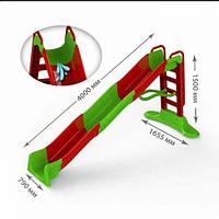 Горка для катания 400 см красно-зеленая
