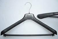 Плечики вешалки тремпеля ВОП -42/4п черного цвета, длина 42 см