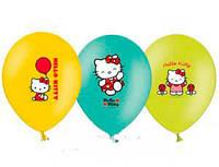 """Воздушные шарики """"Hello Kitti"""" цветные. Размер:""""12"""" В упак: 25шт. Пр-во: Belbal (Бельгия)."""