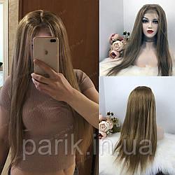 💎Натуральный женский парик русый, длинный волос (сетка на макушке) 💎