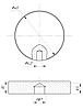 ODF-06-17-02 Конектор круглий d40 з боковим отвором М8, для скляних поручнів і огорож з скла, полір, фото 2