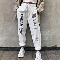 Женские спортивные штаны-джогеры двухнитка