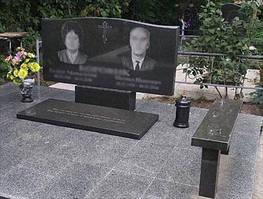 Двойной памятник с надгробной плитой для супругов  1