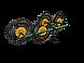 Грабли для мотоблока «Солнышко» ГВР-4 (грабли ворошилки 4-х колесные), фото 2