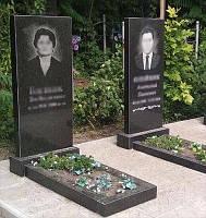 Два одинарных памятника (Габбро)  1