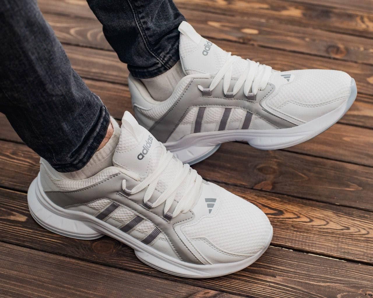 Мужские кроссовки Adid@s ZX , белые 40-44