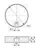 ODF-06-19-21 Конектор круглий d40 з боковим отвором М10, для скляних огороджень і поручнів, чорний, фото 2