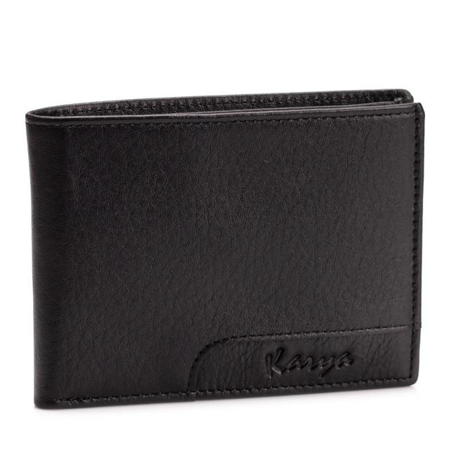 Мужской кошелек на магнитах Karya 0967-45 кожаный черный