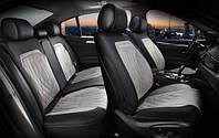 3D чехлы автомобильные накидки на сидения Modena Maxi Elegant 700133 серая алькантара и экокожа комплект