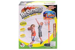 Баскетбольне кільце зі стійкою, м'яч, насос, кріплення, ключ, 689-1