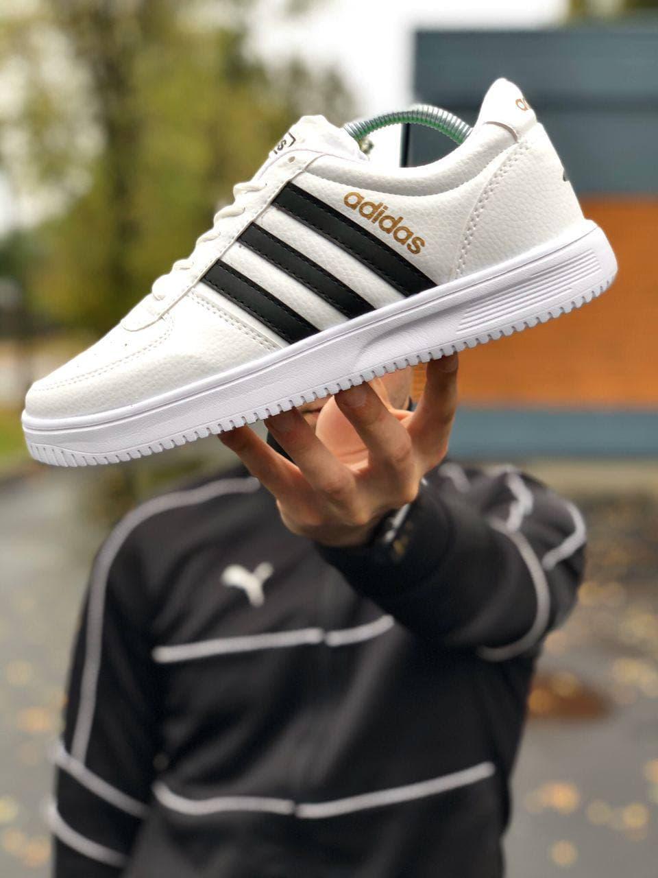 Мужские кроссовки Adid@s  , белые 40-44 кожа