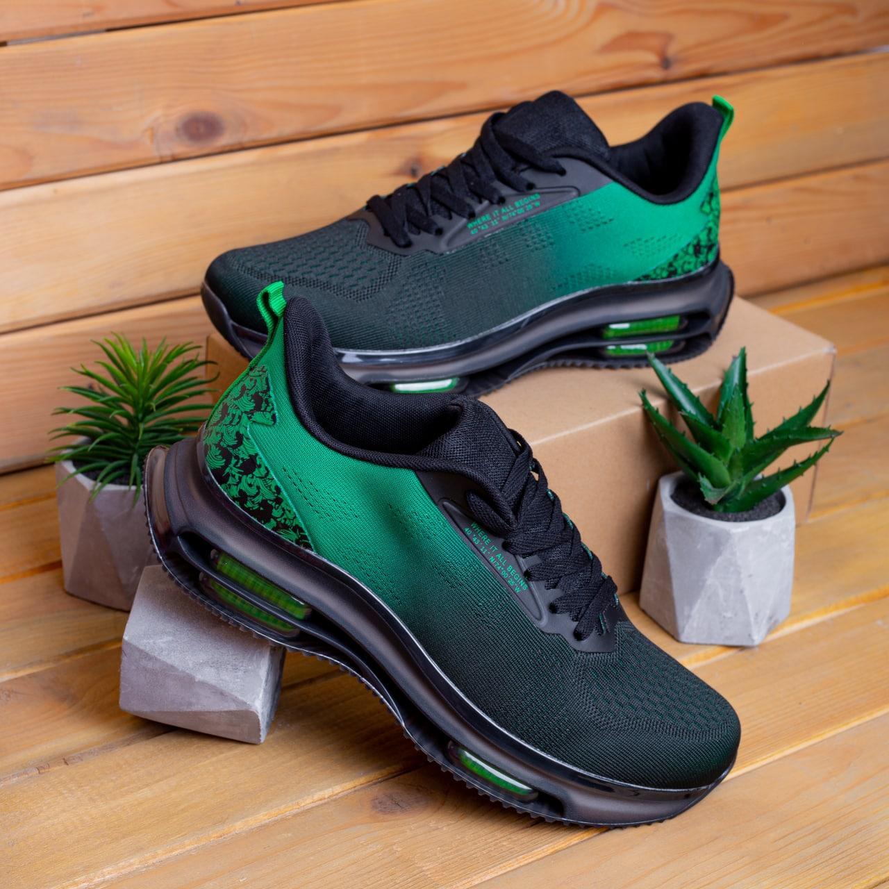 Чоловічі кросівки Дифено Wild Rose (зелено-чорні)