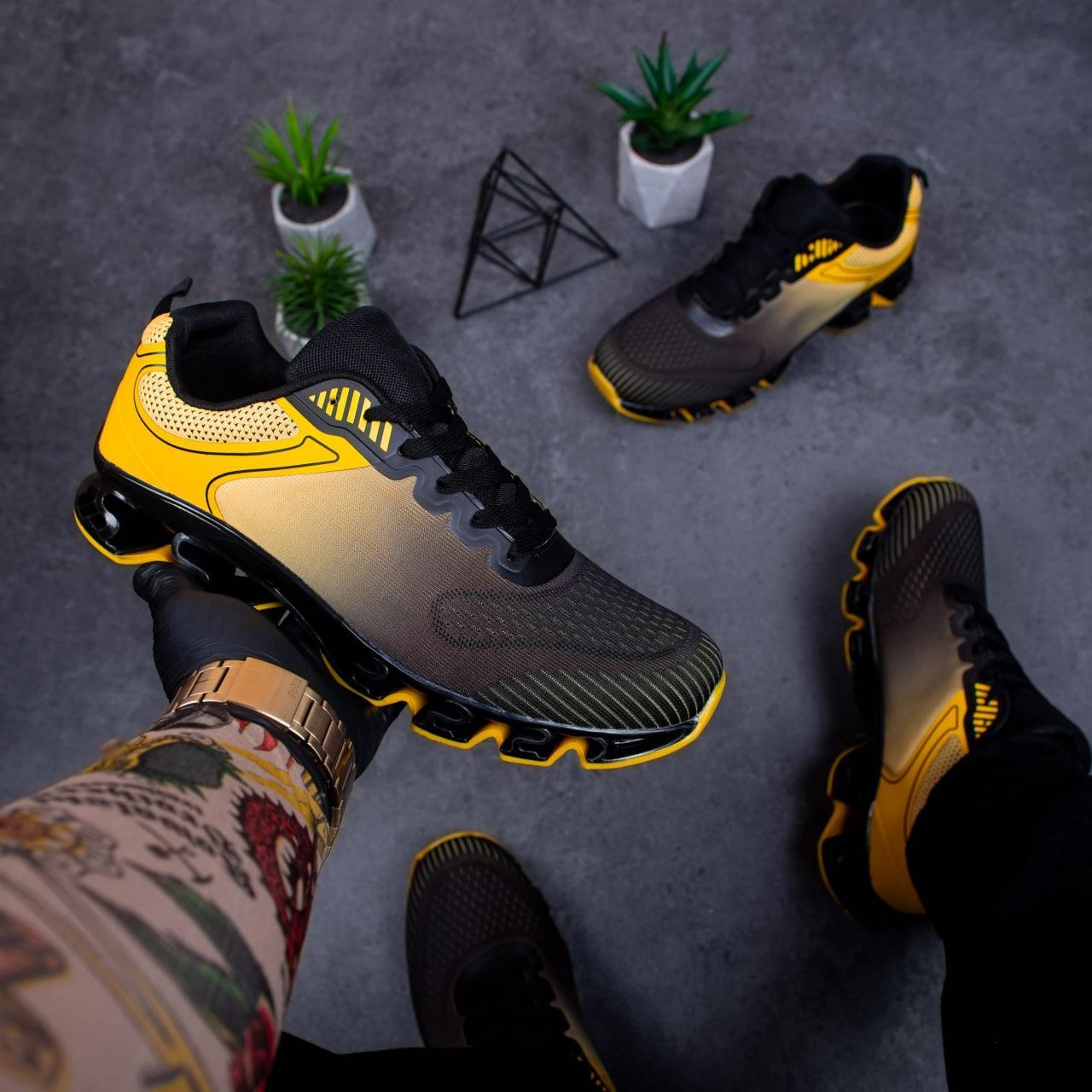 Чоловічі кросівки Дифено Пента ОФФ (чорно-жовті)