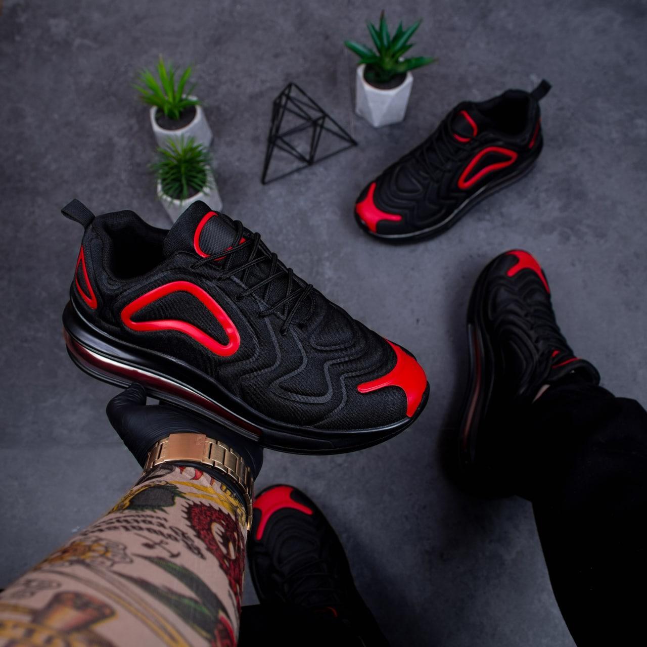 Чоловічі кросівки Бастер Арт 720 (чорно-червоні)