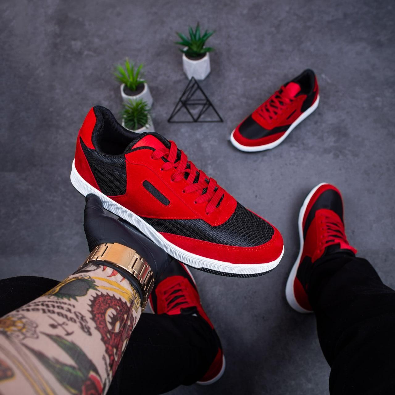 Чоловічі кросівки Форест Бута (чорно-червоні)
