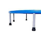Батут для джампінгу фітнесу Міні ZELART Складний Діаметр 127 см Чорний-синій (C-2696), фото 4
