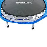 Батут для джампінгу фітнесу Міні ZELART Складний Діаметр 127 см Чорний-синій (C-2696), фото 5