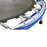 Батут для джампінгу фітнесу Міні ZELART Складний Діаметр 127 см Чорний-синій (C-2696), фото 6