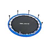 Батут для джампінгу фітнесу Міні ZELART Складний Діаметр 127 см Чорний-синій (C-2696), фото 7