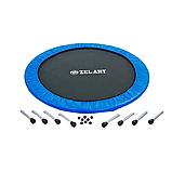 Батут для джампінгу фітнесу Міні ZELART Складний Діаметр 127 см Чорний-синій (C-2696), фото 10