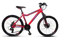 """Горный велосипед Crosser Trinity 26"""" , красно-синий"""