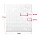 Декоративная 3D панель самоклейка под кирпич Бирюза 700x770x7мм, фото 8