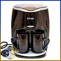 Капельная кофеварка Livstar LSU-1190 black на 2 чашки 650 Вт