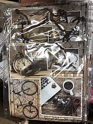 Подарунковий паперовий пакет КВАДРАТ 24*24*10 см Ключі