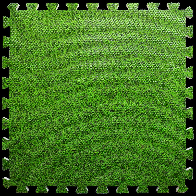 Пол пазл - модульное напольное покрытие 600x600x10мм зеленая трава (МР4)
