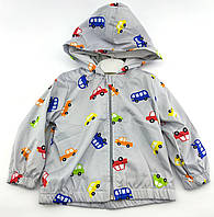 Куртка дитяча для новонародженого 9, 12, 18, 24 місяці Туреччина для хлопчика плащівка блакитна (КНК20)