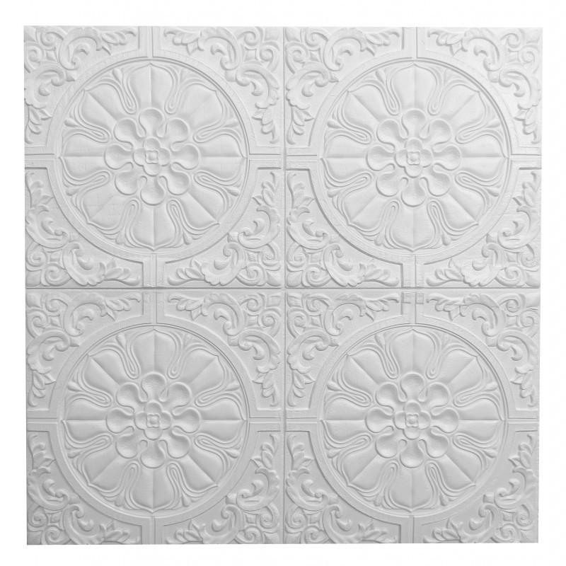 Самоклеющаяся декоративная потолочно-стеновая 3D панель 700x700x7,5мм (175)