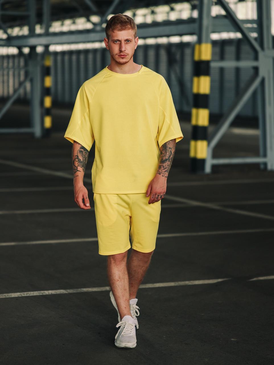 Чоловічий річний комплект Оверсайз, футболка і шорти