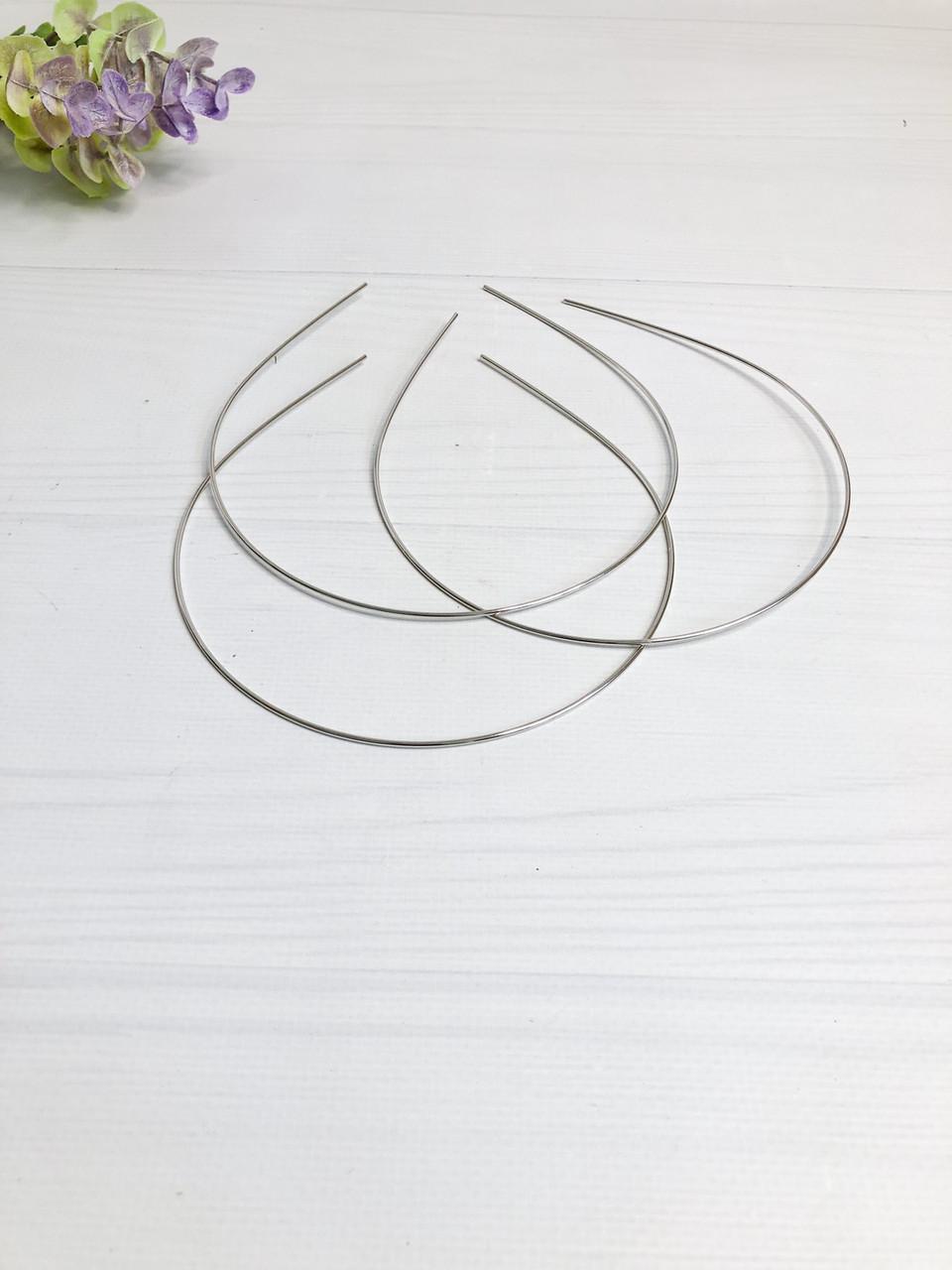 Обруч металевий 1,5 мм срібний