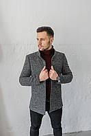 Пальто Люксембург стойка сіре