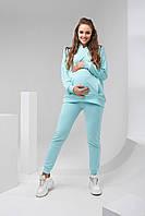 Яркий спортивный костюм для беременных и кормящих 2113 (4) 1461 мятный, фото 1