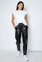 Женские черные брюки из кожи (Панда jd), фото 3