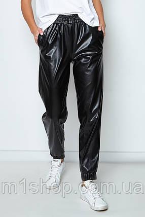 Женские черные брюки из кожи (Панда jd), фото 2